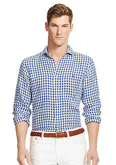 Polo Ralph Lauren Gingham Linen Estate Shirt