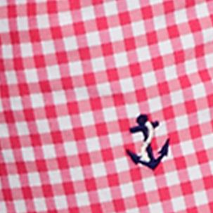 Polo Ralph Lauren Swimwear: Ultra Pink Polo Ralph Lauren Gingham Traveler Swim Trunks