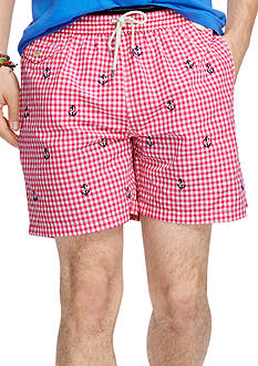 Polo Ralph Lauren Gingham Traveler Swim Trunks