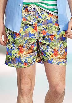 Polo Ralph Lauren Tiger-Print Traveler Swim Shorts