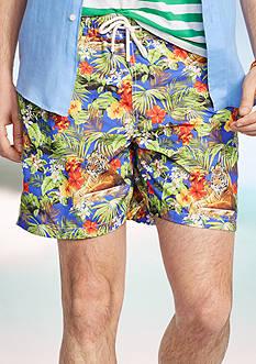 Polo Ralph Lauren Tiger-Print Traveler Swim Shorts