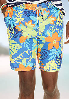 Polo Ralph Lauren 8-in. Floral-Print Swim Trunks