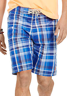 Polo Ralph Lauren Plaid Shelter Island Swim Trunks