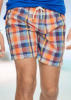 Polo Sport Plaid Traveler Swim Shorts