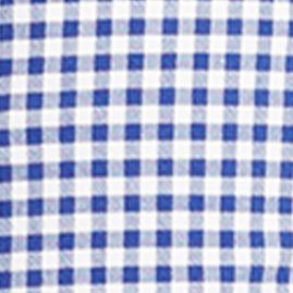 Mens Flat Front Shorts: Royal/White Polo Ralph Lauren Classic-Fit Checked Cotton Shorts