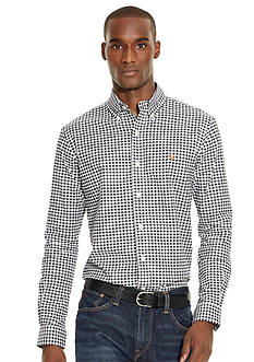 Polo Ralph Lauren Long Sleeve Gingham Oxford Shirt