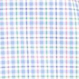 Mens Designer Shirts: Blue/Pink Polo Ralph Lauren Checked Poplin Estate Shirt