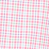 Mens Designer Shirts: Pink/Green Polo Ralph Lauren Checked Poplin Estate Shirt