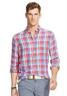 Polo Ralph Lauren Plaid Linen Shirt