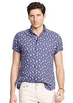 Polo Ralph Lauren Short-Sleeve Printed Oxford Shirt