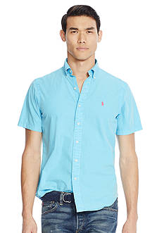 Polo Ralph Lauren Short-Sleeve Cotton-Silk Shirt
