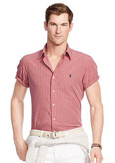 Polo Ralph Lauren Slim-Fit Short-Sleeve Checked Shirt
