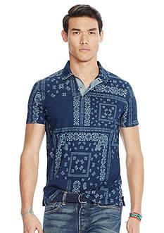 Polo Ralph Lauren Indigo Patchwork Popover Shirt