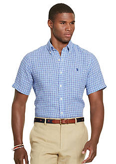 Polo Ralph Lauren Short-Sleeve Checked Linen Shirt
