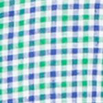 Mens Designer Casual Shirts: Green/Royal Polo Ralph Lauren Short-Sleeve Checked Linen Shirt