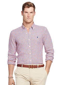 Polo Ralph Lauren Short-Sleeve Checked Linen Shirt