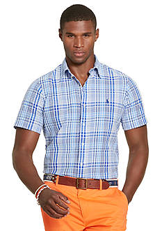 Polo Ralph Lauren Short-Sleeve Plaid Seersucker Shirt