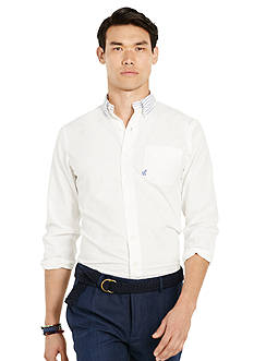 Polo Ralph Lauren Striped-Collar Cotton Shirt