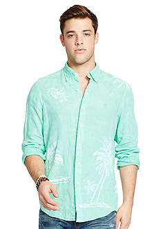Polo Ralph Lauren Linen Graphic Sport Shirt