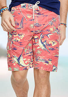Polo Ralph Lauren Marlin-Print Kailua Swim Trunks
