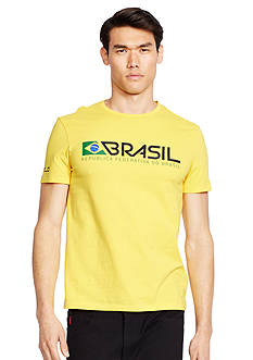 Polo Ralph Lauren Custom-Fit Brasil Crew Neck Tee