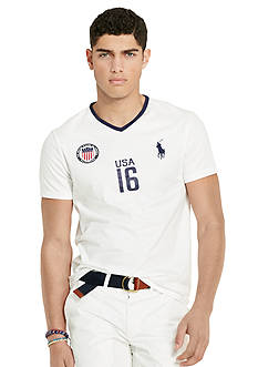 Polo Ralph Lauren Custom-Fit USA V-Neck Tee