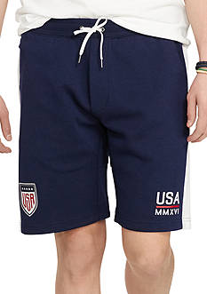 Polo Ralph Lauren USA Double-Knit Drawstring Shorts