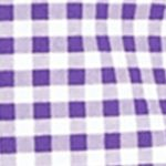 Mens Designer Shirts: Purple/White Polo Ralph Lauren Gingham Oxford Shirt
