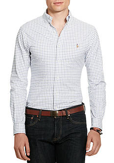 Polo Ralph Lauren Slim-Fit Tattersall Stretch-Oxford Shirt