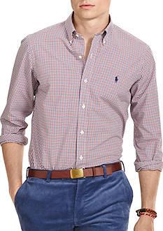 Polo Ralph Lauren Mini-Gingham Poplin Shirt