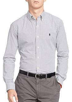 Polo Ralph Lauren Slim-Fit Tattersall Poplin Shirt
