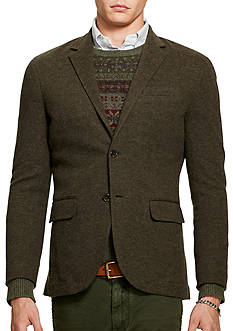 Polo Ralph Lauren Double-Knit Cotton-Wool Blazer