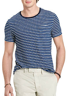 Polo Ralph Lauren Striped Indigo Cotton T-Shirt