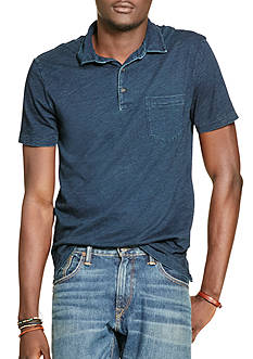 Polo Ralph Lauren Indigo Cotton Mesh Popover Shirt