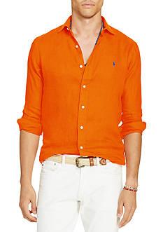Casual Shirts: Mens Orange Long Sleeve | Belk