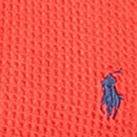 Mens Crew Neck Sweaters: Bistro Red Polo Ralph Lauren Waffle-Knit Cotton Hoodie