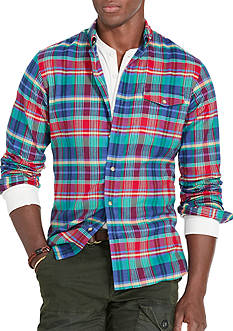 Polo Ralph Lauren Plaid Twill Sport Shirt