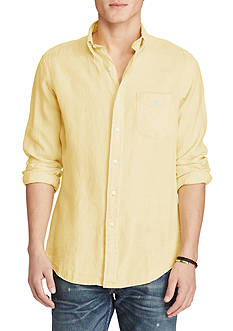 Casual Shirts: Mens Yellow Long Sleeve | Belk