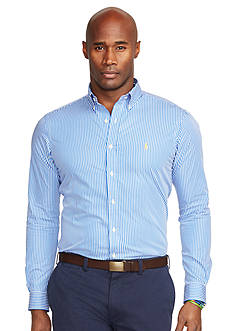 Polo Ralph Lauren Big & Tall Striped Poplin Shirt