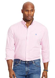 Polo Ralph Lauren Big & Tall Striped Poplin Shirt
