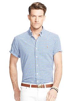 Polo Ralph Lauren Big & Tall Short-Sleeve Gingham Oxford Shirt