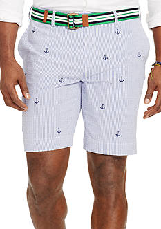 Polo Ralph Lauren Big & Tall Classic-Fit Embroidered Seersucker Shorts