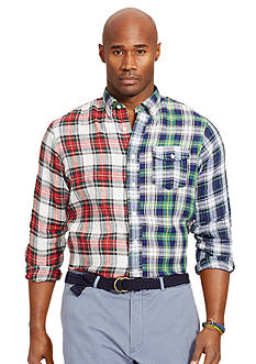 Polo Ralph Lauren Big & Tall Patchwork Plaid Bleecker Shirt