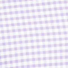 Big and Tall Designer Clothes: Casual  Button Down Shirts: Soft Purple/White Polo Ralph Lauren Big & Tall Gingham Oxford Shirt