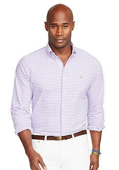 Polo Ralph Lauren Big & Tall Gingham Oxford Shirt