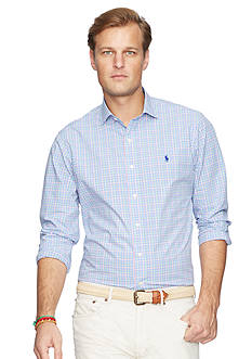 Polo Ralph Lauren Big & Tall Checked Poplin Estate Shirt