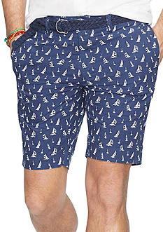 Polo Ralph Lauren Big & Tall Classic-Fit Sailboat-Print Poplin Short