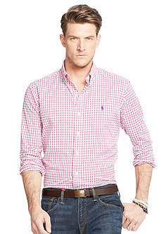 Polo Ralph Lauren Big & Tall Tattersall Stretch Performance Shirt