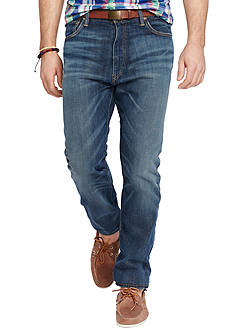 Polo Ralph Lauren Hampton Straight-Fit Davis-Wash Stretch Jeans