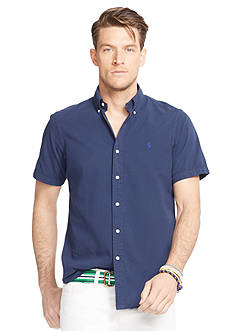 Polo Ralph Lauren Big & Tall Short-Sleeve Seersucker Shirt